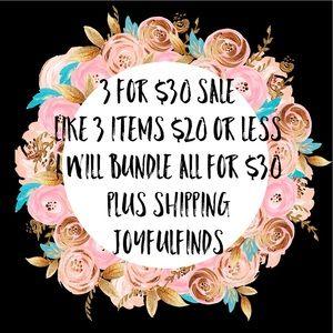 3 Doe $30 Sale